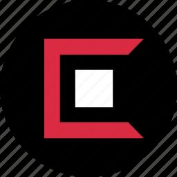 abstract, block, center, creative, design icon
