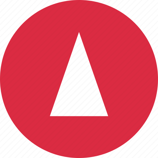 abstract, cone, creative, point, up, upload icon