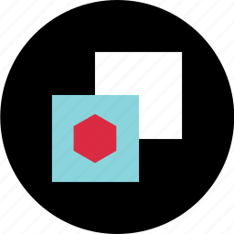 abstract, copy, creative, hexagon, paste icon