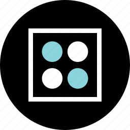 abstract, boxed, center, creative, design, dots icon