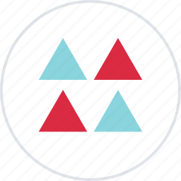 abstract, creative, design, four, triangles icon