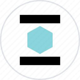 abstract, center, creative, design, hexagon icon