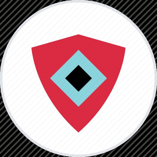 abstract, creative, cube, eye, shield icon