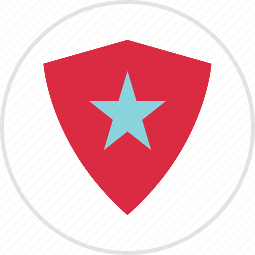 abstract, creative, favorite, shield, star icon