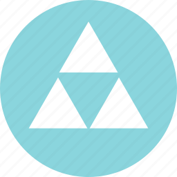 abstract, creative, pyramid, three, triangles icon