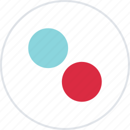 abstract, creative, design, dots, two icon