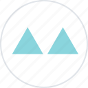 abstract, creative, design, triangles, two icon