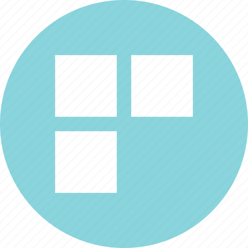 abstract, creative, squares, three, windows icon