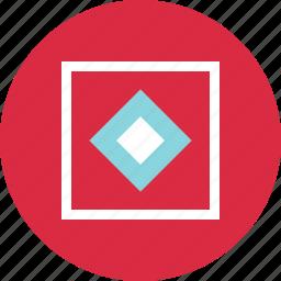 abstract, center, creative, cube, x icon
