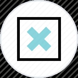 abstract, center, creative, delete, x icon