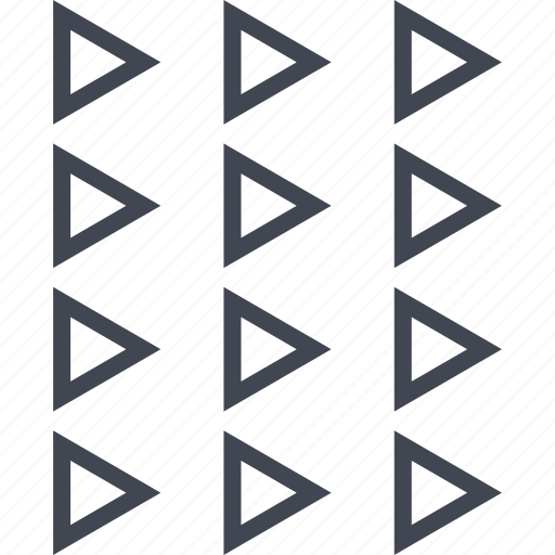 abstract, assorted, design, triangles icon