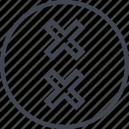 abstract, crosses, delete, design, two icon