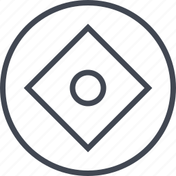 angle, center, cube, dot icon