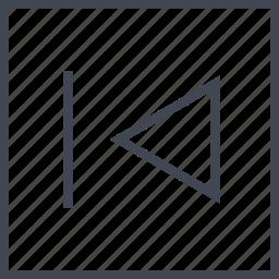 back, exit, left, rewind icon