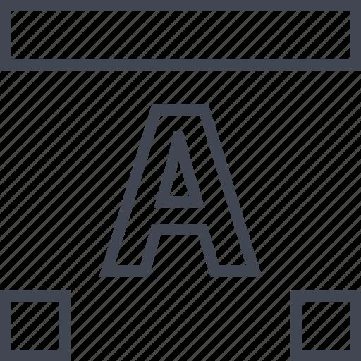 dots, letter, lettering, line icon