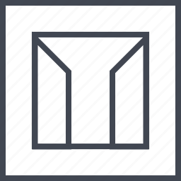 abstract, design, lines, sides icon