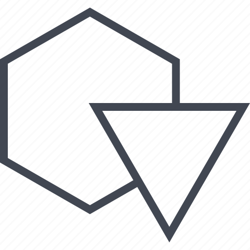 abstract, design, hex, hexagon, triangle icon
