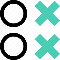 abstract, creative, two, x icon