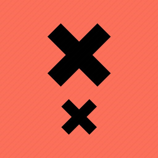 abstract, creative, delete, two, x icon