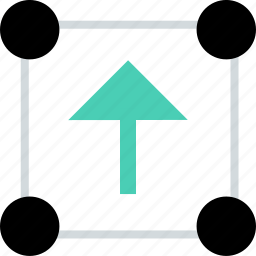 abstract, arrow, creative, points, up icon