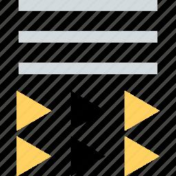 abstract, arrows, creative, design, line icon
