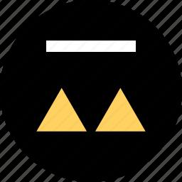 abstract, arrows, creative, up icon