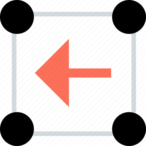 abstract, back, creative, design, left, point icon