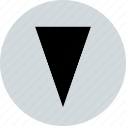 abstract, cone, creative, down icon