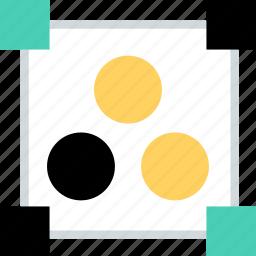 abstract, center, creative, dots, edges icon