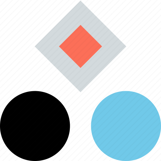abstract, creative, design, dots, hexagons icon