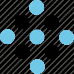 abstract, creative, dna, dots, molecules icon