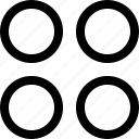 abstract, creative, dots, four icon