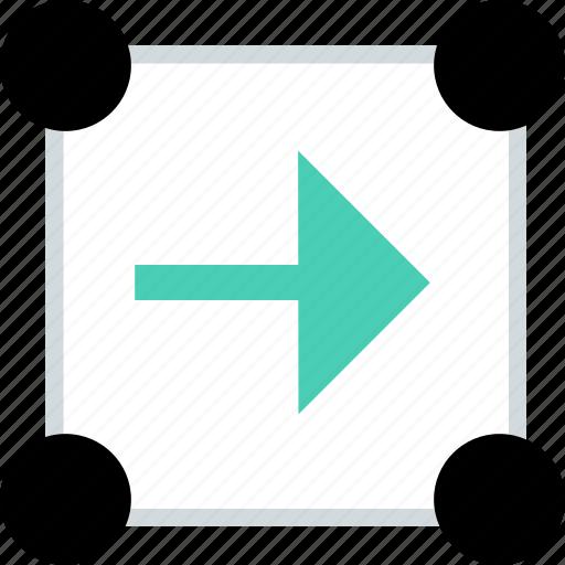 abstract, arrow, creative, go, next icon