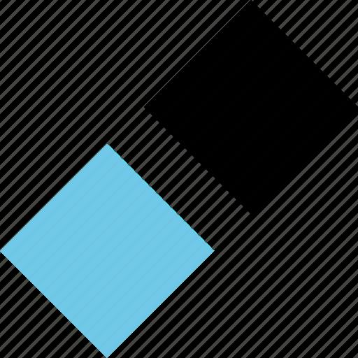 abstract, creative, hexagon, two icon