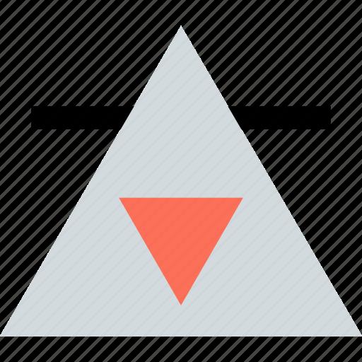 abstract, arrow, creative, triangle, up icon