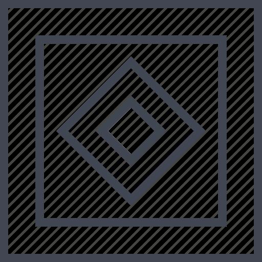 center, cube, eye, look icon