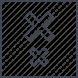 crosses, delete, stop, two icon
