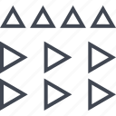 assorted, connect, triangle, triangles icon
