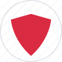 abstract, creative, design, protect, shield icon