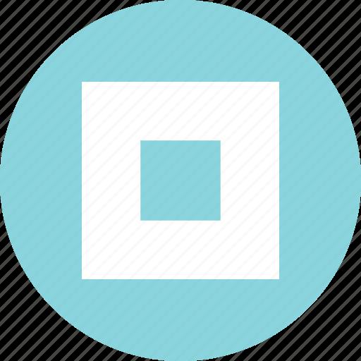 abstract, boxed, center, creative, design icon