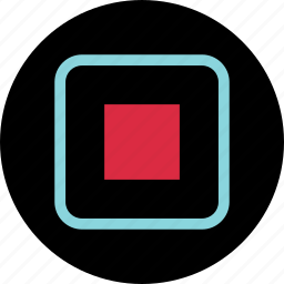 abstract, boxed, center, creative icon