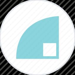 abstract, corner, creative, curve, design icon