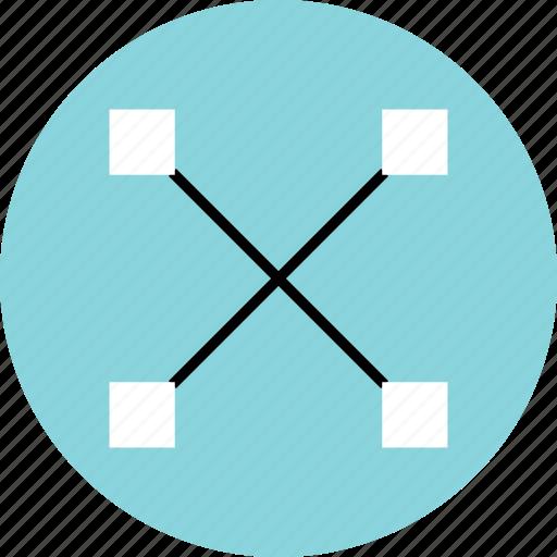 abstract, creative, cross, design, pen, x icon