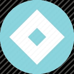 abstract, center, creative, cube, eye icon