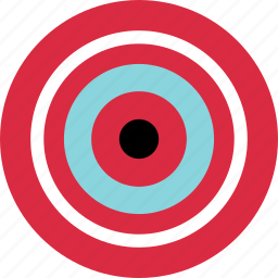 abstract, creative, eye, goal, hit, target icon