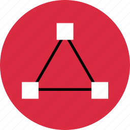 abstract, create, creative, edges, triangle icon