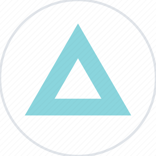 abstract, creative, point, triangle, up icon