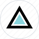 abstract, creative, pointer, triangle, up icon