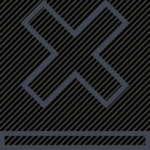 cross, denied, line, top icon