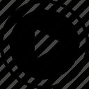 arrow, forward, go, menu, next, play icon